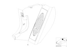 E46 330Ci M54 Coupe / Vehicle Trim/  Retrofit M Aluminium Foot Rest
