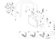 E46 316ti N42 Compact / Brakes/  Front Brake Pipe Dsc-2