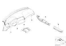 E46 330Ci M54 Coupe / Vehicle Trim/  Retrofit Alu Decor Strips Pillars