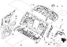 E46 330Ci M54 Coupe / Vehicle Trim/  Sound Insulating Rear