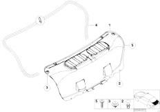 E46 330Ci M54 Coupe / Vehicle Trim/  Trim Panel Trunk Lid
