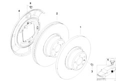 E46 316ti N42 Compact / Brakes/  Rear Wheel Brake Brake Disc