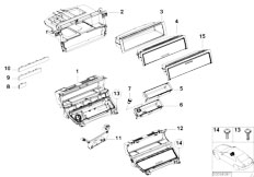 E46 330Ci M54 Coupe / Vehicle Trim/  Storing Partition Mounting Parts