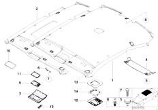 E46 330Ci M54 Coupe / Vehicle Trim/  Headlining