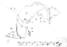 E46 330Ci M54 Coupe / Vehicle Trim/  Wheelarch Trim