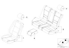 E83 X3 2.0d M47N2 SAV / Seats/  Lambskin Seat Cover