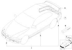 E46 330Ci M54 Coupe / Vehicle Trim/  Aerodynamics Package