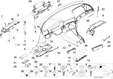E46 330Ci M54 Coupe / Vehicle Trim/  Trim Panel Dashboard