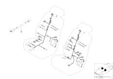 E39 520i M52 Sedan / Vehicle Electrical System/  Electr Adjust Comfort Seat Wiring Set