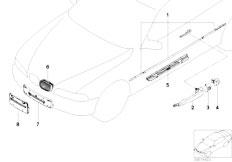 E46 330Ci M54 Coupe / Vehicle Trim/  Retrofit Chrome Line Exterieur