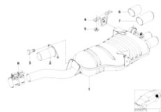 E46 330i M54 Touring / Exhaust System/  Exhaust System Rear-2