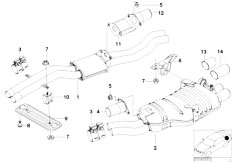 E46 330i M54 Touring / Exhaust System/  Centre And Rear Silencer-2