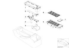 E46 330Ci M54 Coupe / Vehicle Trim/  Storing Partit Mounting Parts Teleph