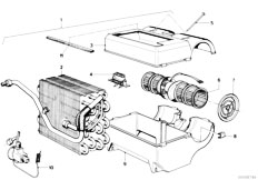 E21 316 M10 Sedan / Heater And Air Conditioning/  Air Conditioning Unit Parts
