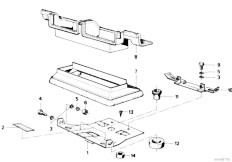E21 316 M10 Sedan / Heater And Air Conditioning/  Air Conditioning System Mounting Parts