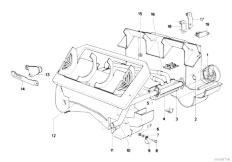E21 316 M10 Sedan / Heater And Air Conditioning/  Heater Radiator Mounting Parts