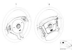 E46 316ti N42 Compact / Steering/  Retrofit Kit Multifunct Steering Wheel