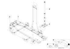 E46 330Ci M54 Coupe / Vehicle Trim/  Battery Tray