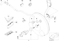 E46 316ti N42 Compact / Brakes/  Power Brake Unit Depression