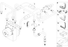 E46 316ti N42 Compact / Brakes/  Front Brake Pipe Asc