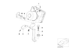 E46 316ti N42 Compact / Brakes/  Asc Hydro Unit Control Unit Support-3
