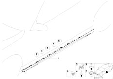 E46 330Ci M54 Coupe / Vehicle Trim/  M Door Sill Trim Panel