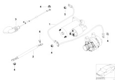 original parts for e53 x5 3.0d m57 sav / engine electrical ... bmw m57 wiring diagram bmw e65 wiring diagram