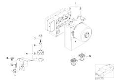 E46 316ti N42 Compact / Brakes/  Asc Hydro Unit Control Unit Support