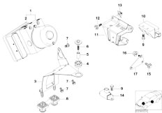 E46 316ti N42 Compact / Brakes/  Hydro Unit Dsc Fastening Sensors