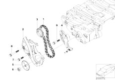 E46 316i N45 Sedan / Engine/  Oil Pump And Compensating Shaft Drive