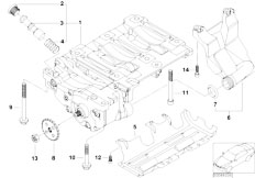 E46 316i N45 Sedan / Engine/  Oil Pump And Compensating Shaft Unit