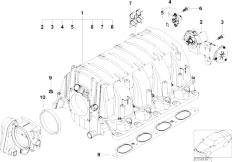 original parts for e65 745i n62 sedan    engine   crankcase