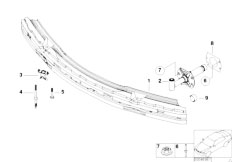 E46 330Ci M54 Coupe / Vehicle Trim/  Carrier Bumper Front