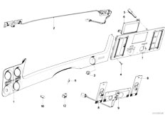 E21 316 M10 Sedan / Heater And Air Conditioning/  Frame Front