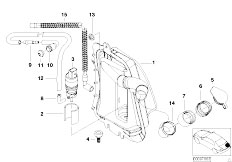 E46 320d M47 Touring / Vehicle Electrical System/  Single Parts For Rear Window Cleaning