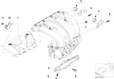 E46 316i N45 Sedan / Engine/  Mounting Parts F Intake Manifold System