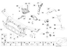E46 330Ci M54 Coupe / Vehicle Trim/  Front Panel