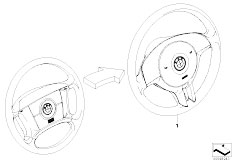 E46 316ti N42 Compact / Steering/  Modificat 4 Spoke Strng Whl Sport