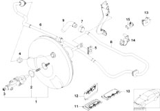 E46 316ti N42 Compact / Brakes/  Power Brake Unit Depression-2