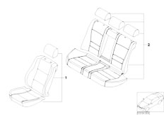 E83 X3 2.0d M47N2 SAV / Seats/  Seat Cover Bmw Design