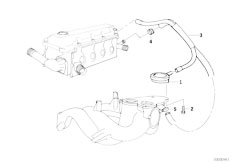 E46 316i 1.9 M43 Sedan / Engine/  Crankcase Ventilation