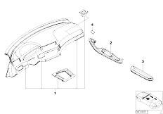 E46 330Ci M54 Coupe / Vehicle Trim/  Retrofit Int Mouldings Matt Chrome