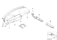 E46 330Ci M54 Coupe / Vehicle Trim/  Retrofit Alu Decor Strips Titanium Ii