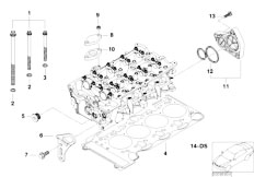 E46 316i N45 Sedan / Engine/  Cylinder Head Attached Parts